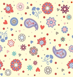 florals pattern beautiful background vector image vector image