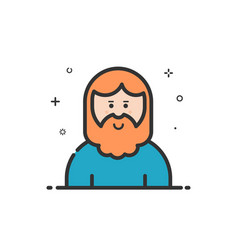 icon in flat line style vector image