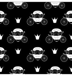 Princess Cinderella Fairytale Carriage Seamless vector image vector image