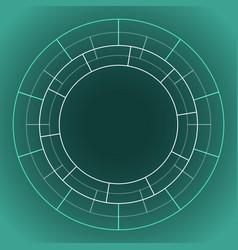 abstract technology circle vector image vector image