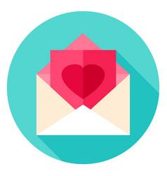 love post circle icon vector image