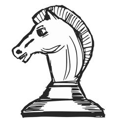 A chess figure vector