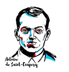 Antoine de saint-exupery portrait vector