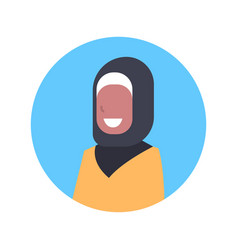 arabic woman profile avatar icon arab female vector image