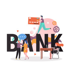 Banking business concept for web banner vector