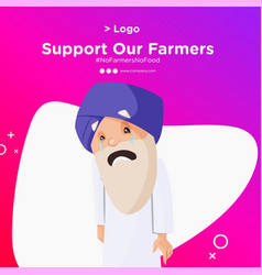 Banner design farmer protest vector