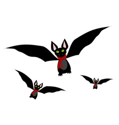 bats set icon vector image