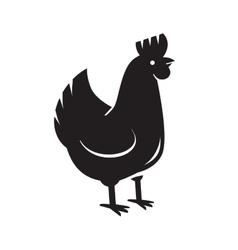 black hen icon vector image vector image