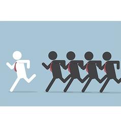 Businessman following leader vector image