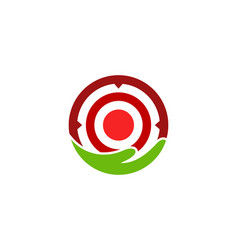 care target logo icon design vector image