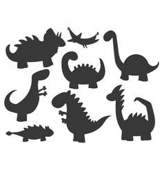 cartoon dinosaurs monster vector image
