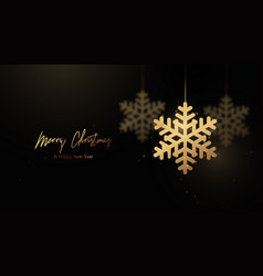 christmas background abstract golden mobile vector image