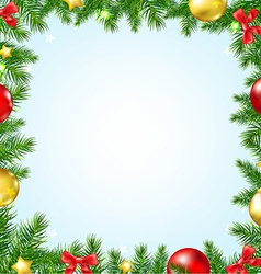 Christmas Fir Tree Border With Stars vector