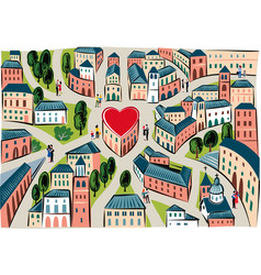 City of love where everyone loves vector