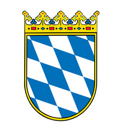 coat arms bavaria germany german province vector image