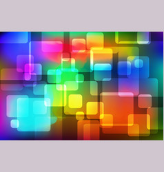 colorful rounded square abstract background vector image