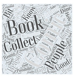 Comic Book Collections Word Cloud Concept vector