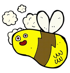 comic cartoon bee vector image