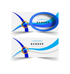 corporate banner vector image