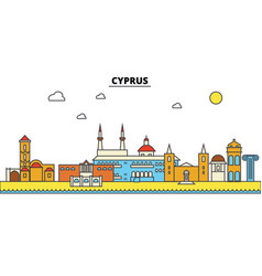 Cyprus cyprus city skyline architecture vector