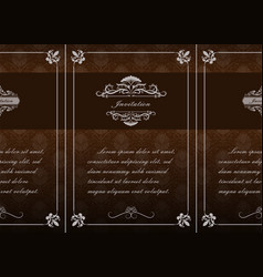 decorative frame in vintage style vector image
