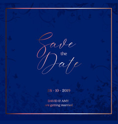 decorative save the date design vector image