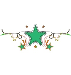 decorative star vector image