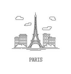 drawing silhouette city paris vector image