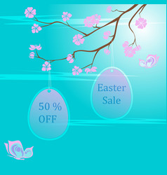 easter sale background template vector image
