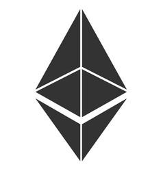Ethereum flat icon vector