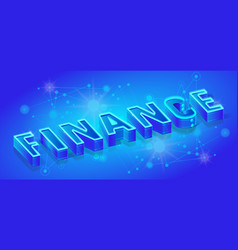 finance isometric banner template neon vector image