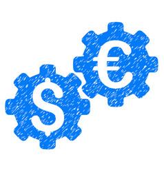 Financial mechanics grunge icon vector