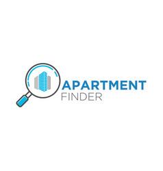 Find apartment logo design modern business vector
