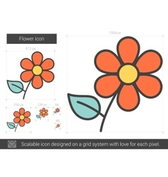 Flower line icon vector