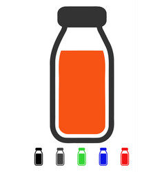full bottle flat icon vector image