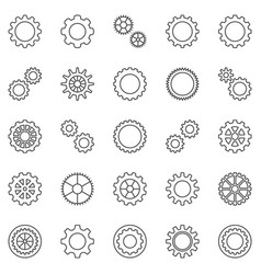 gear or cog outline icons set cogwheels vector image