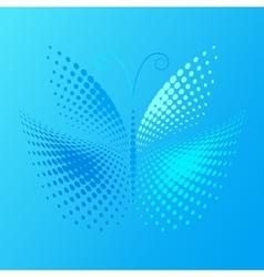 Halftone batterfly vector