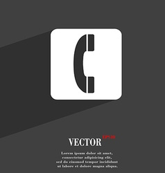 handset icon symbol Flat modern web design with vector image