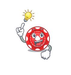 Have an idea gesture gambling chips cartoon vector