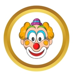 Head of clown icon cartoon style vector image