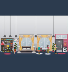 Home gym concept flat vector