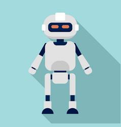 humanoid icon flat style vector image