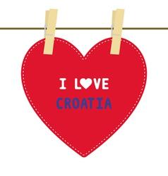 I lOVE CROATIA6 vector