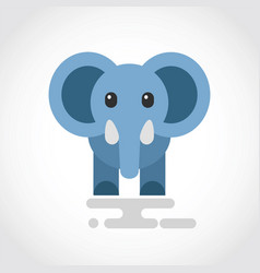 icon a cute cartoon blue elephant vector image