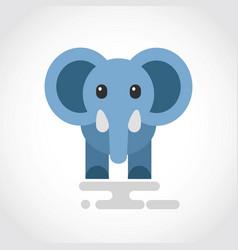 icon a cute cartoon blue elephant vector image