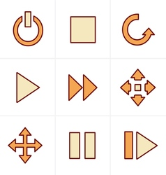 Icons Style media Icons Set Design vector image
