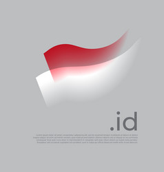 Indonesia flag watercolor colored stripes vector
