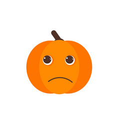 Isolated pumkin cute smile character vector