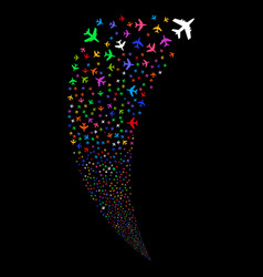 Jet plane random stream vector