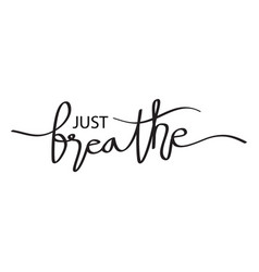 Just breainspirational typography vector